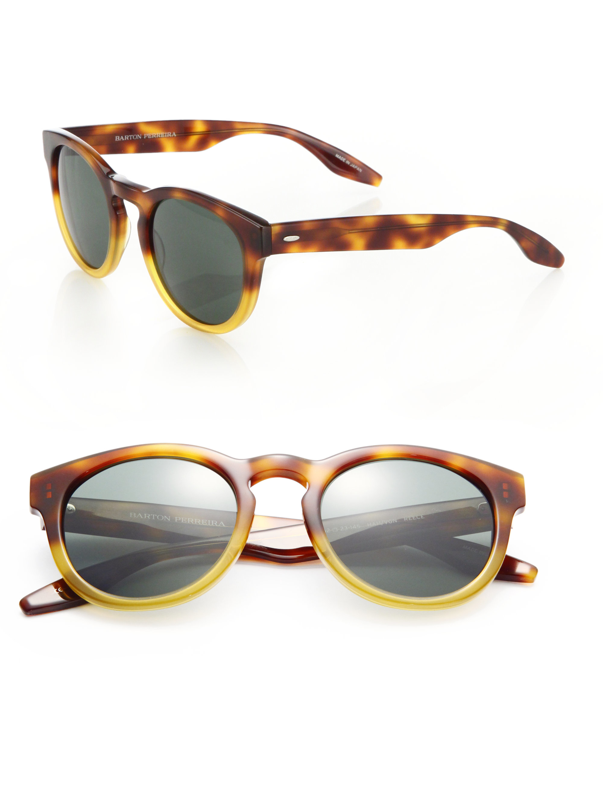 Lyst - Barton Perreira Reece 52mm Round Sunglasses in Brown for Men