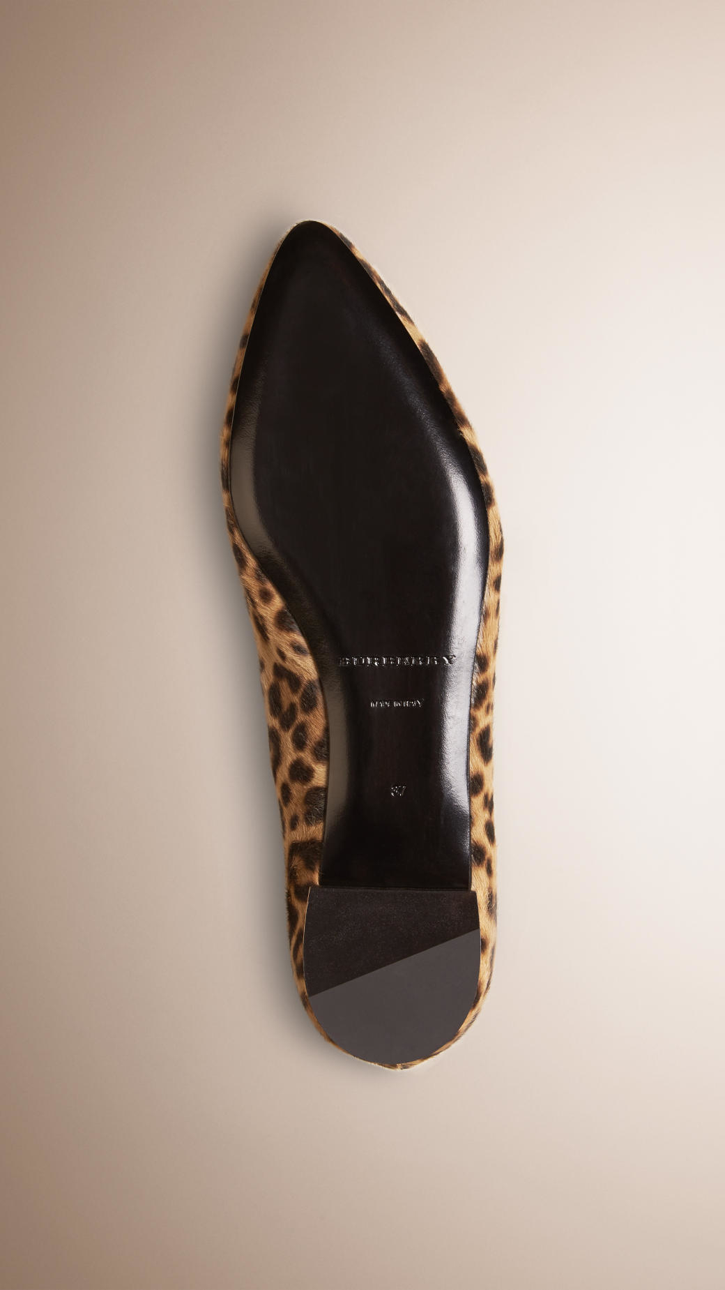 c4bf1213494 Lyst - Burberry Animal-Print Calf Skin Loafers