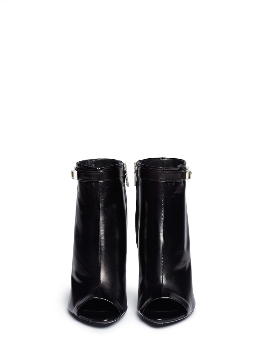 Boots Toe Hardware Peep Schouler Ankle Ps11 Lyst Black Proenza In wvSqxPP1