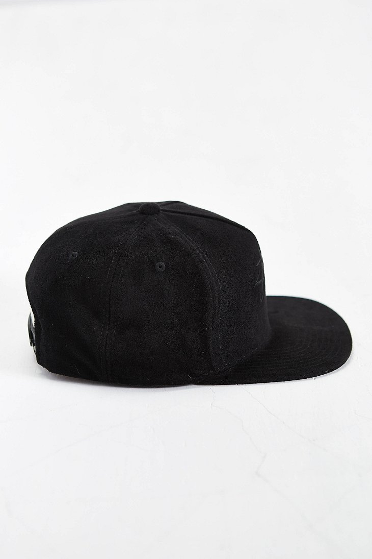 Lyst - Stussy Stock Suede Snapback Hat in Black for Men 22fd744055b