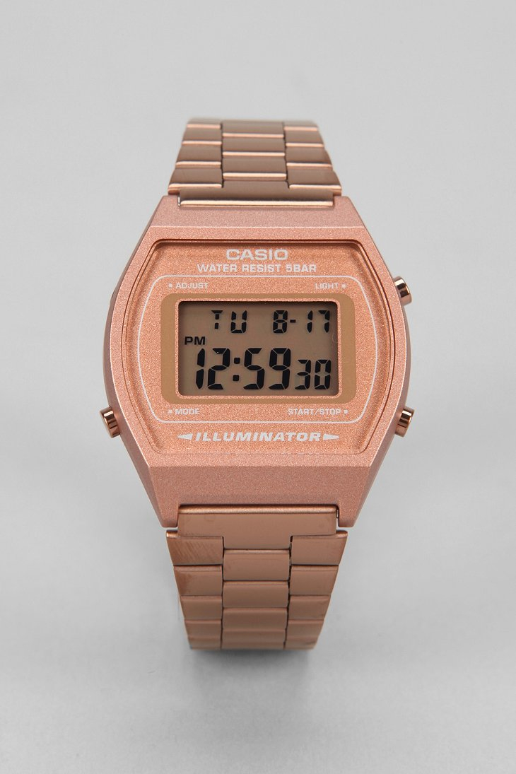 Lyst G Shock Classic Rose Gold Watch In Pink For Men