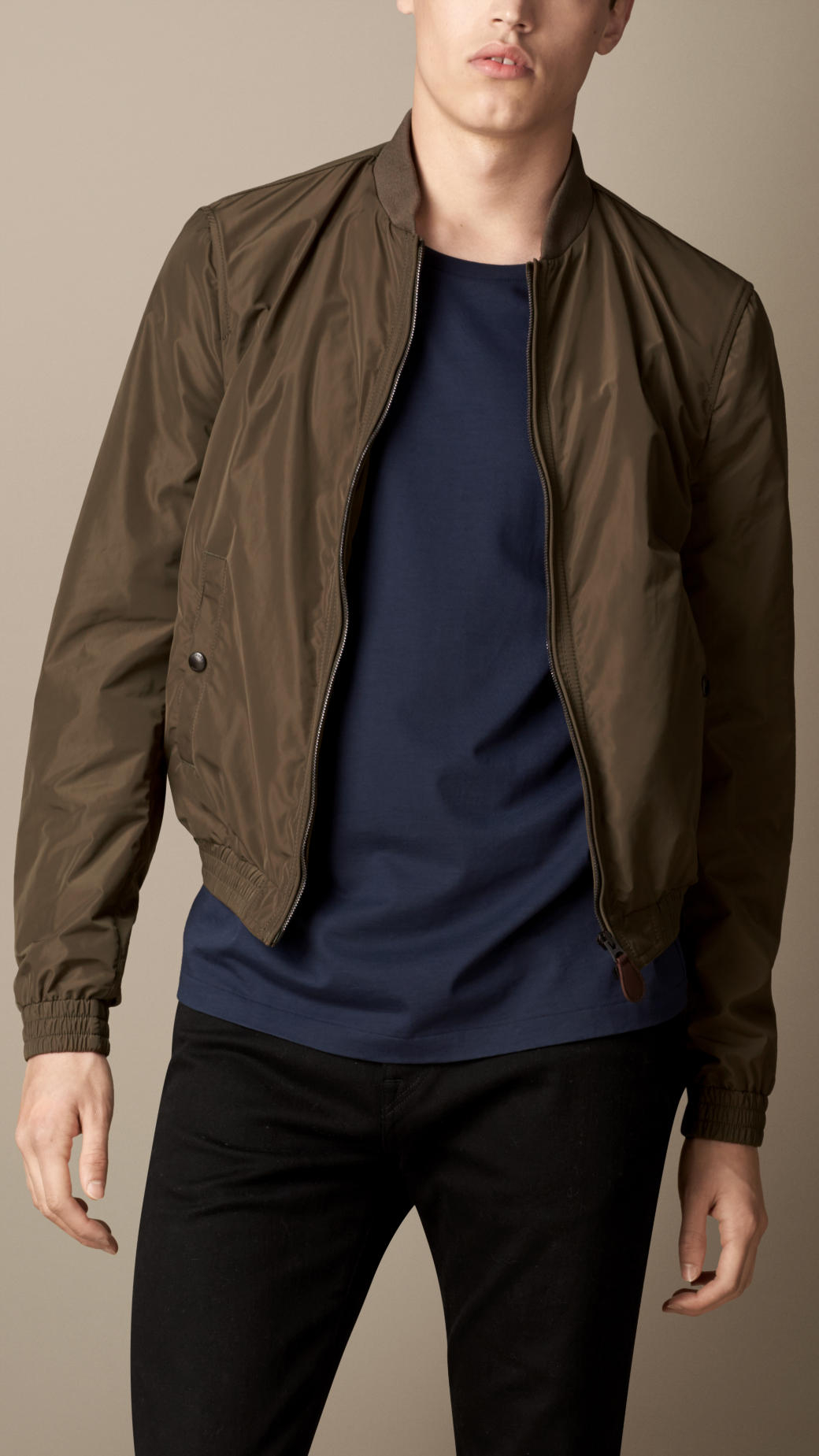 Lightweight Showerproof Bomber Jacket - Blue Burberry Countdown Package Cheap Price Pre Order Cheap Online Best Place Pre Order For Sale xO2s2wq