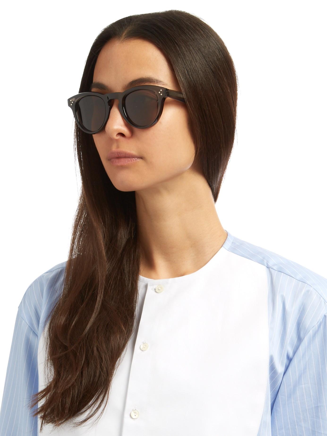31f50b0bd16f Lyst - Céline Round-frame Acetate Sunglasses in Gray