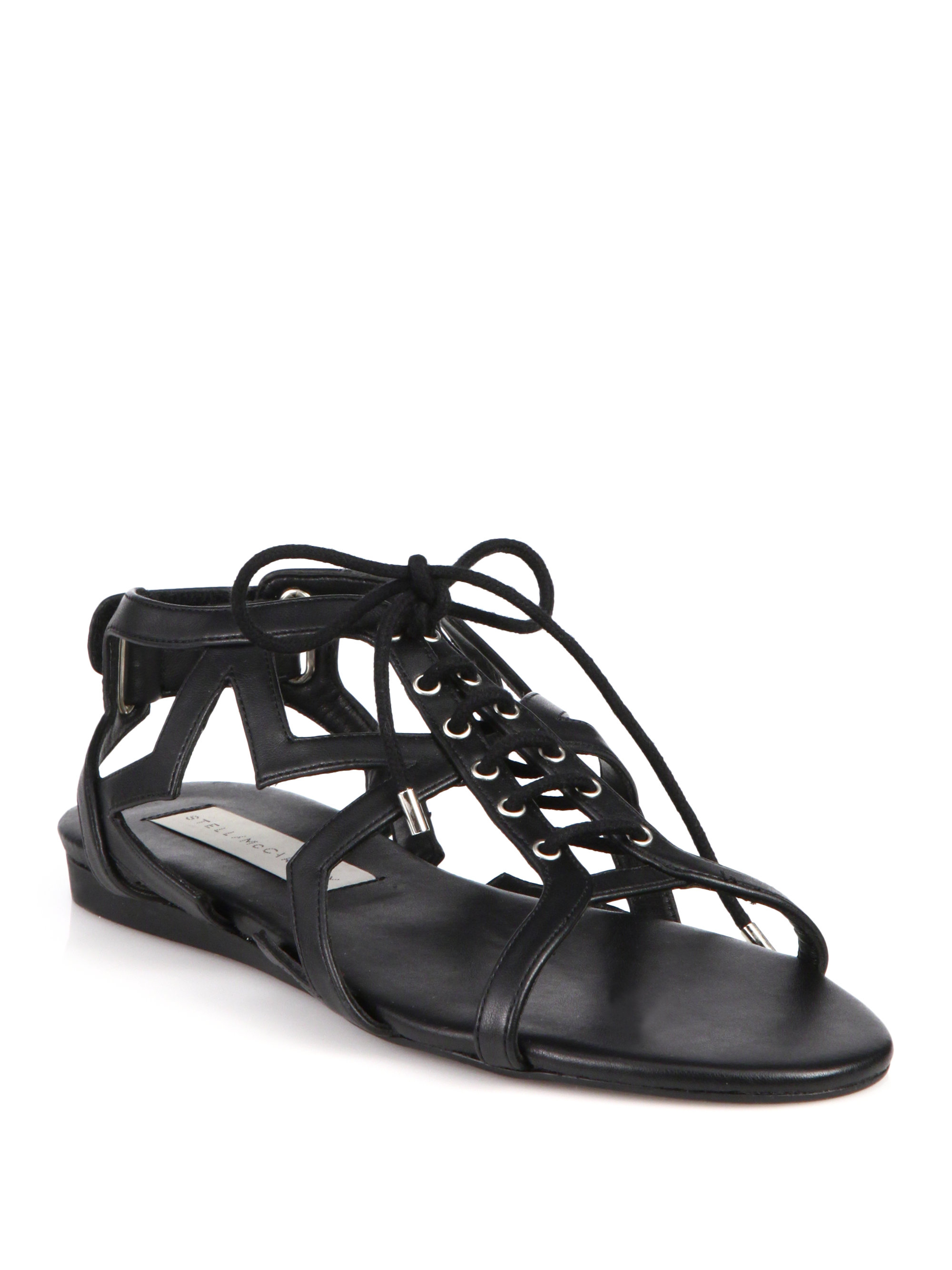 discount many kinds of Stella McCartney Lace-Up Sandals on hot sale amazon footaction free shipping with mastercard QGIvG4Gc