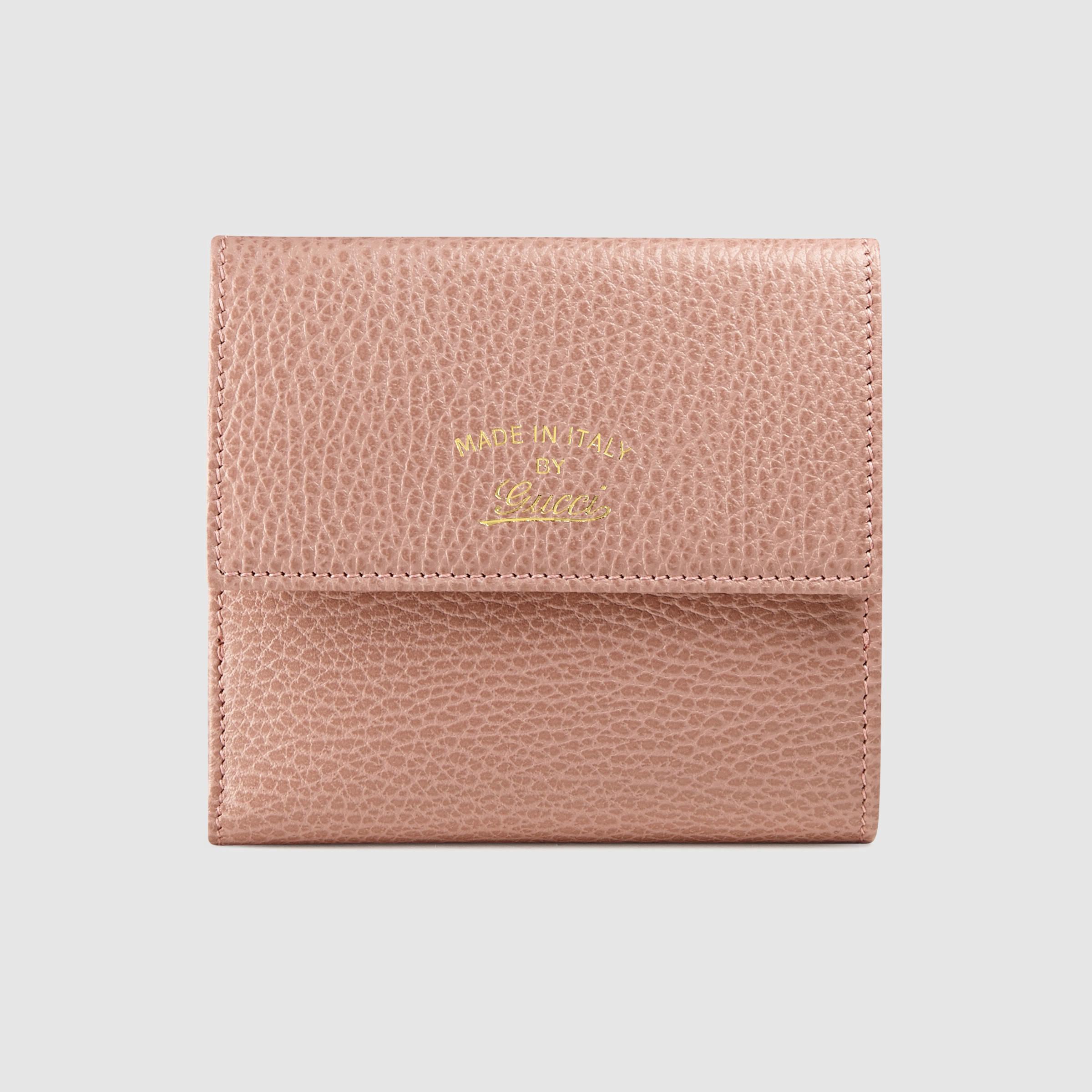 5eb9696de674 Gucci Swing French Flap Wallet in Pink - Lyst