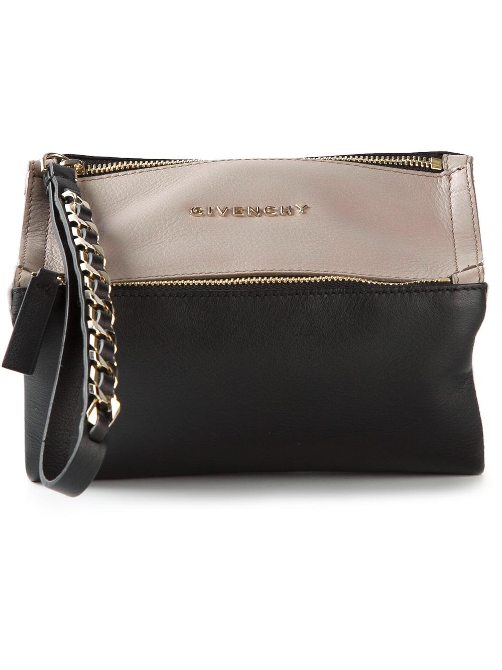 Lyst Givenchy Pandora Wristlet Clutch In Black