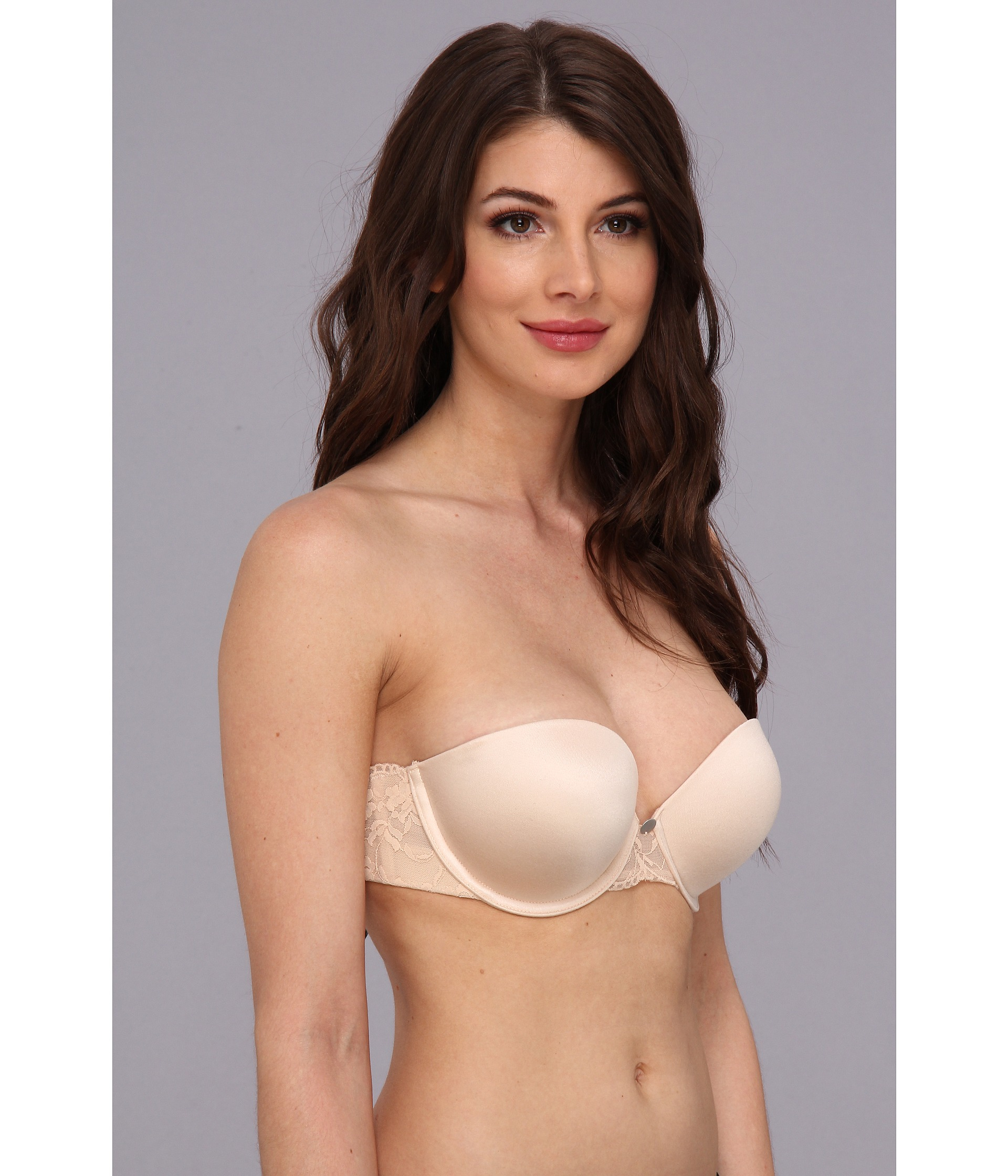 Lyst - DKNY Super Glam Strapless Push-up Bra 458111 in Natural 27d04f903