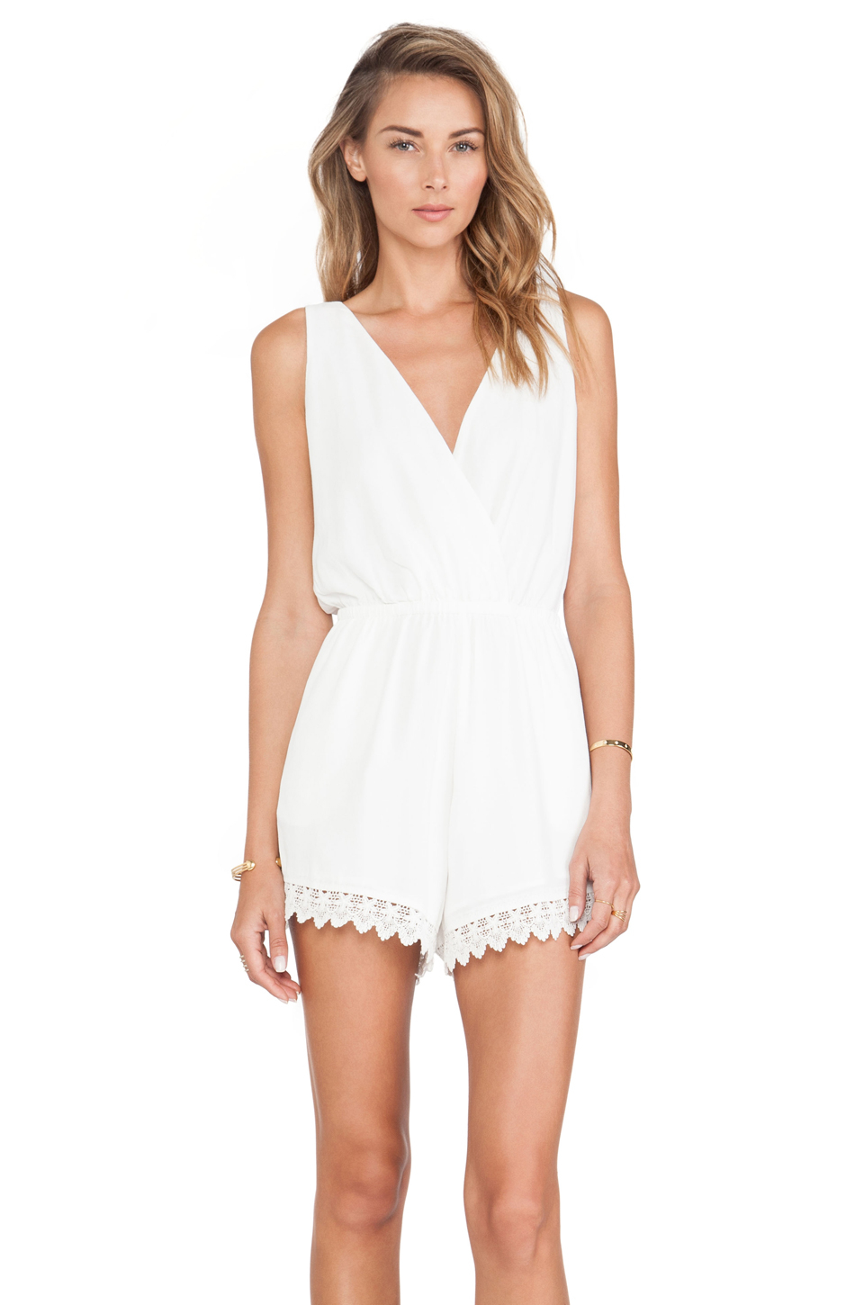 bb656f10a25 Lyst - Tularosa Everly Romper in White