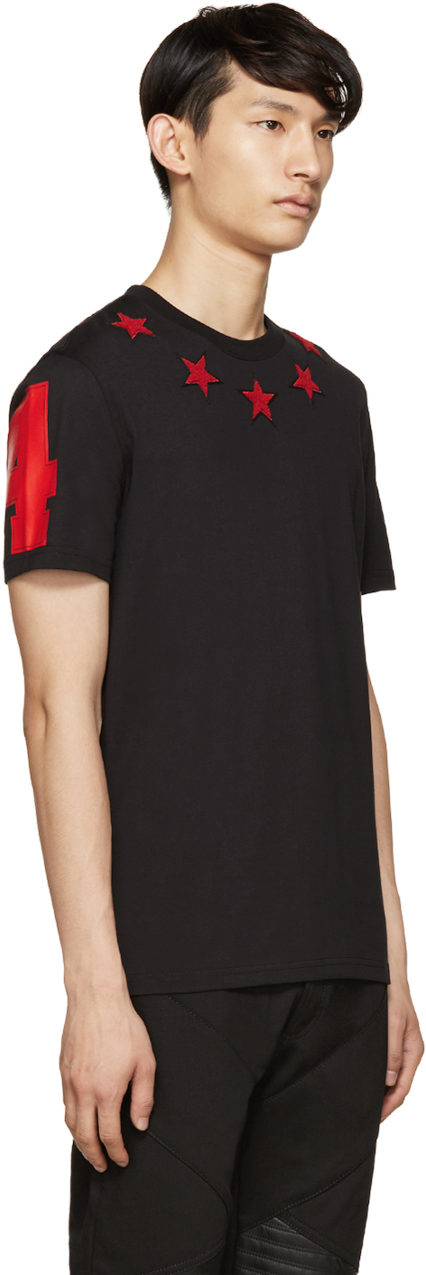 Lyst - Givenchy Black   Red Stars T-shirt in Black for Men 23022ab49cca