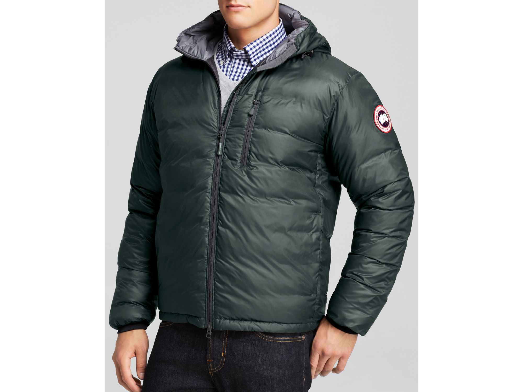 Canada goose Lodge Hooded Down Jacket in Black for Men | Lyst