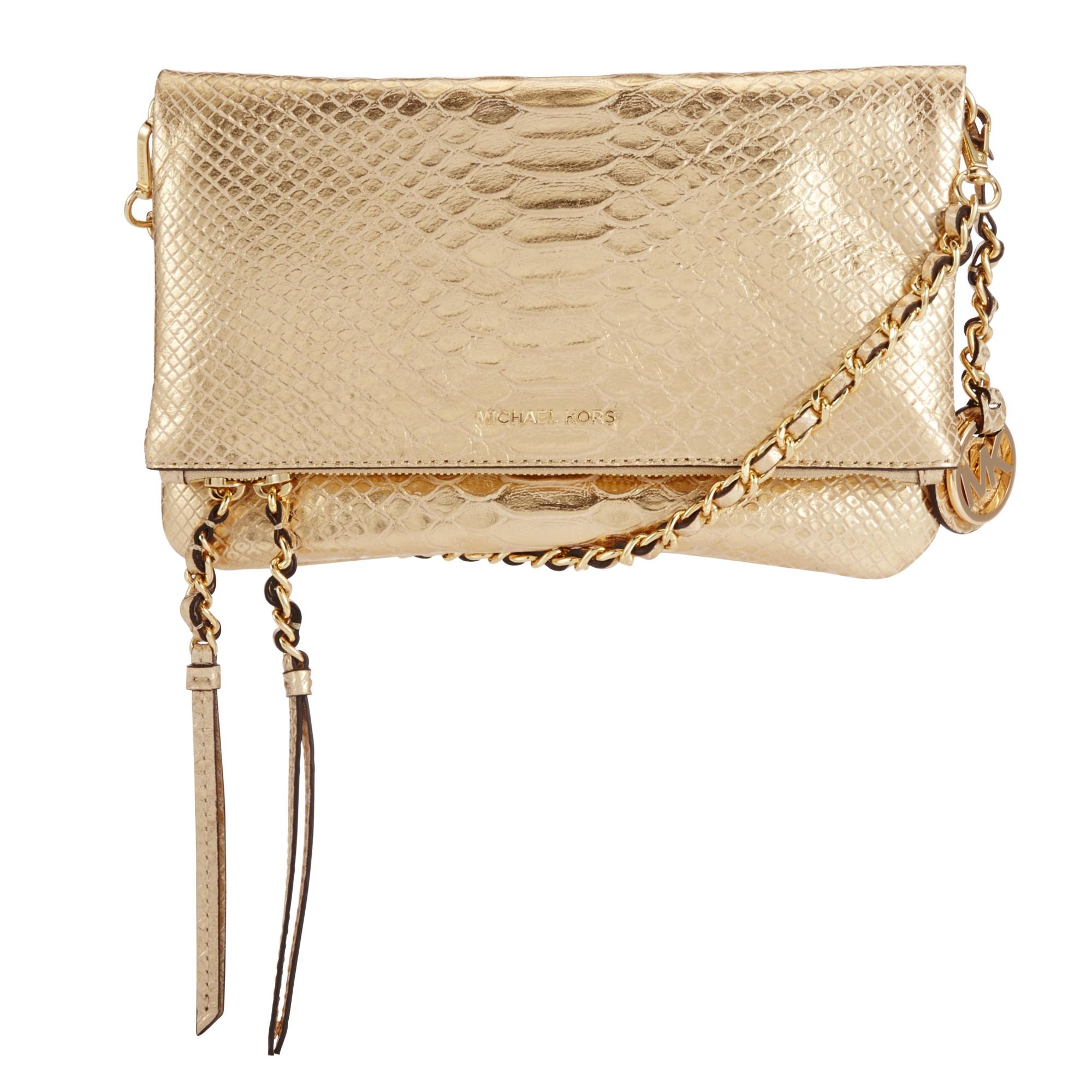 b98b43901f95 MICHAEL Michael Kors Corinne Medium Leather Messenger Bag in Natural ...