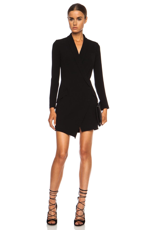 Haute Hippie Tux Polyblend Dress in Black