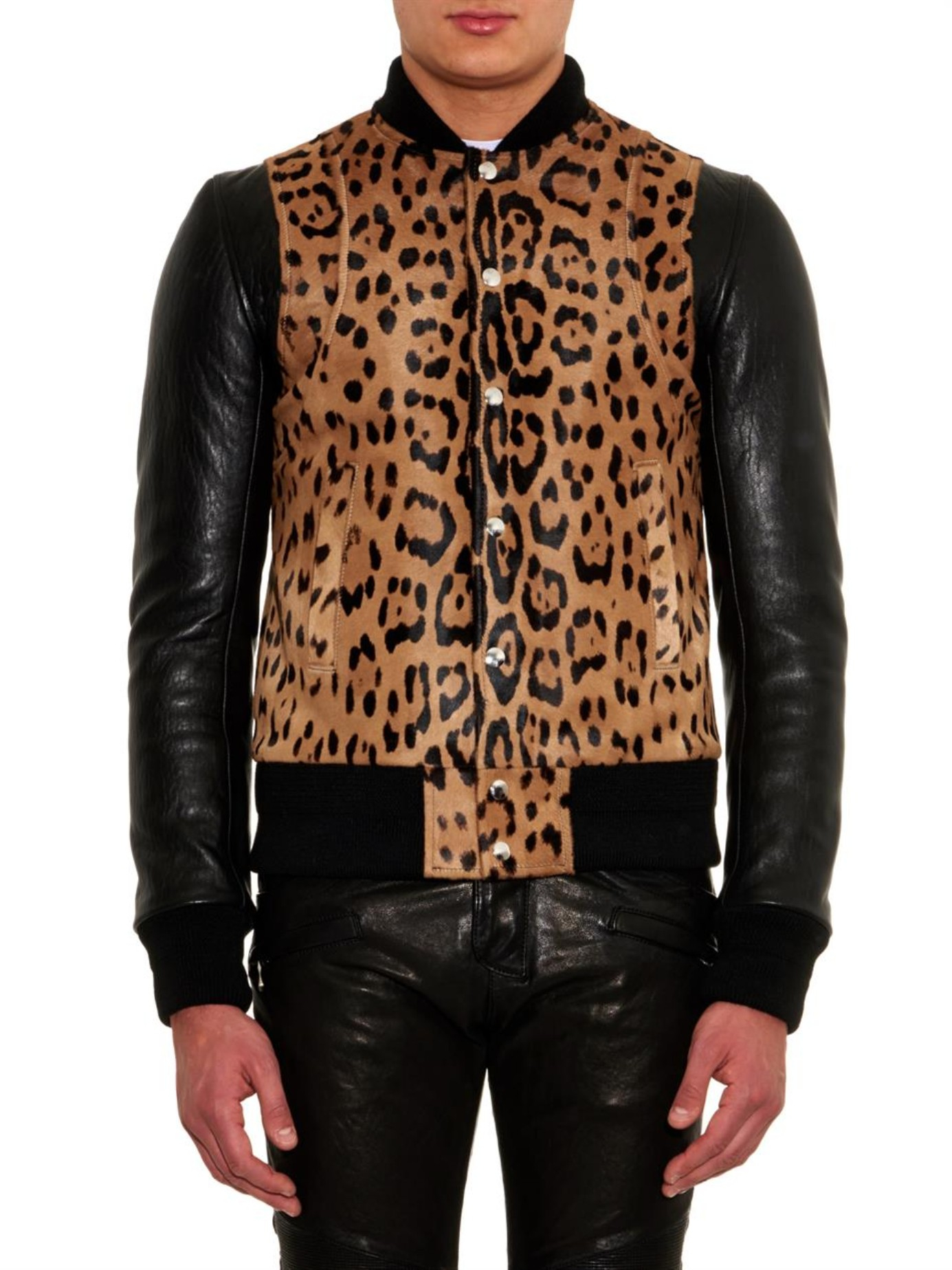 Similiar Man In Leopard Print Coat Keywords