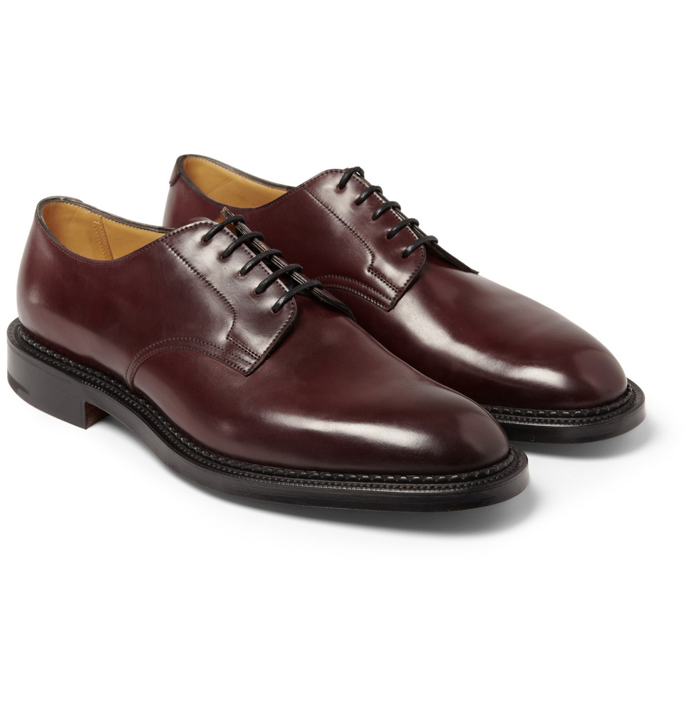 John Lobb Shoes >> Edward green Windermere Cordovan Leather Derby Shoes in Red for Men | Lyst