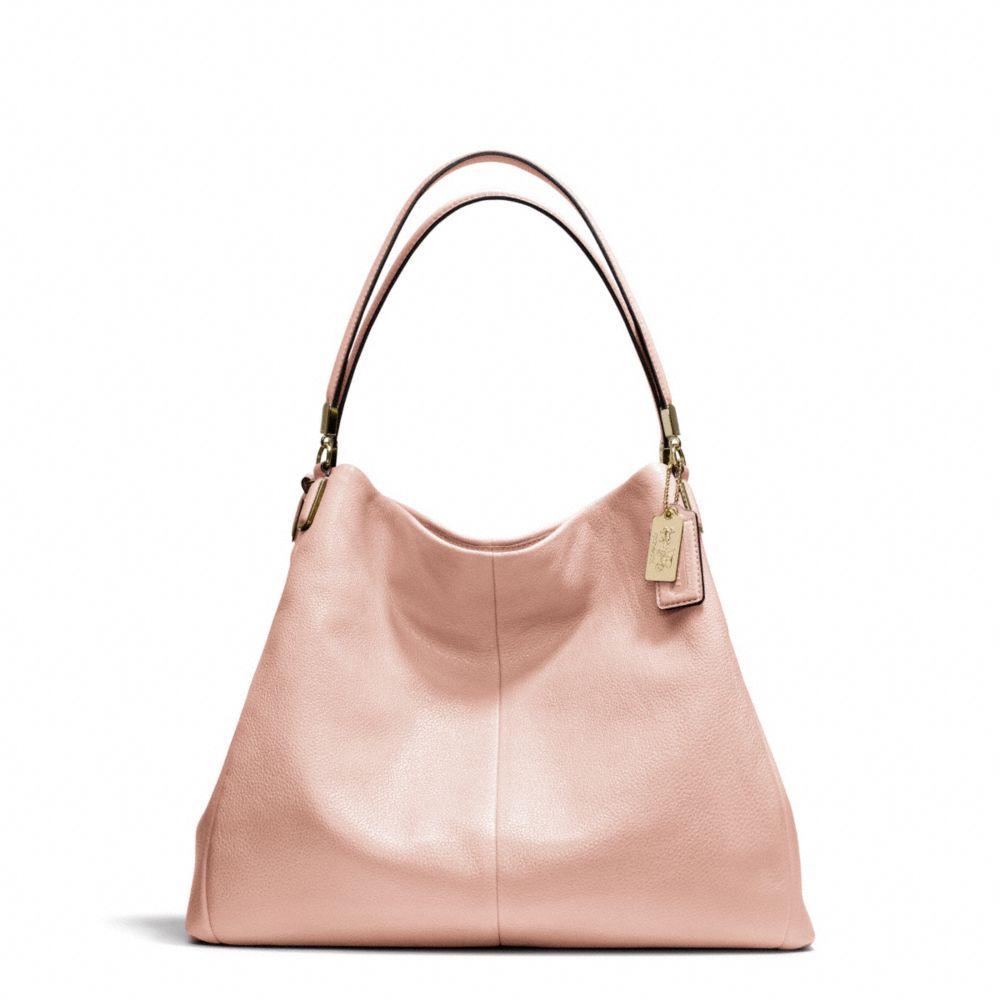 coach madison phoebe shoulder bag in leather in pink li. Black Bedroom Furniture Sets. Home Design Ideas