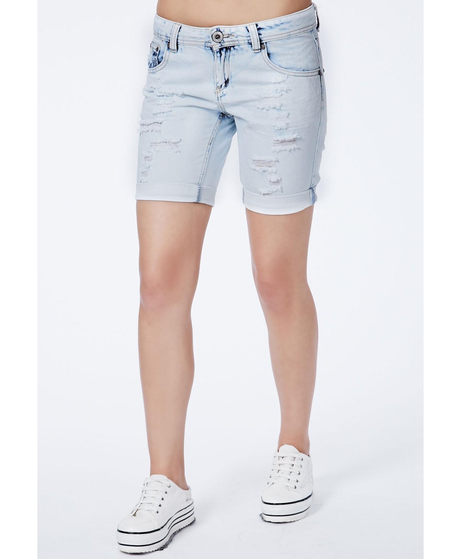 Knee Shorts Denim - Hardon Clothes