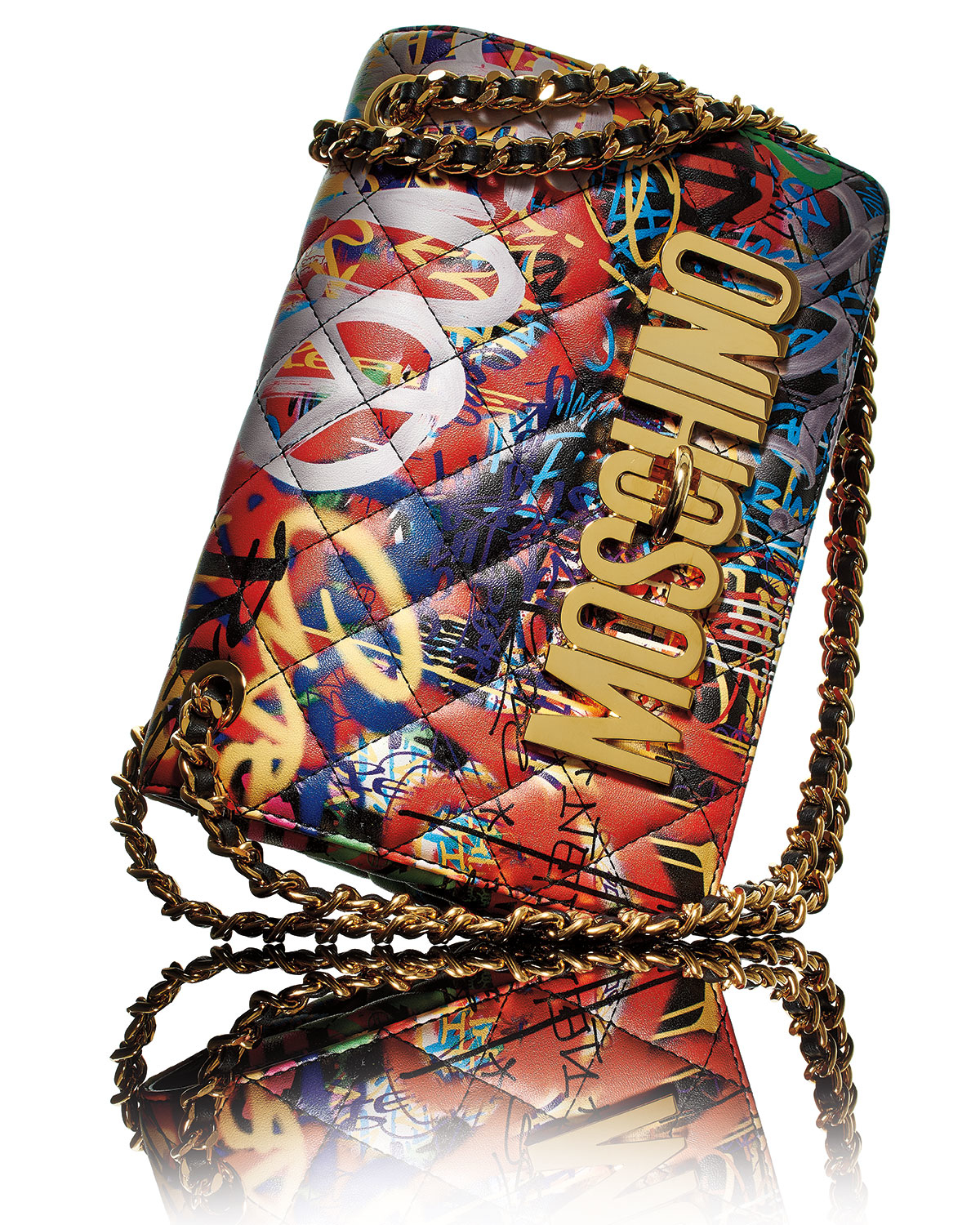 Moschino Do Not Enter Shoulder Bag In Red Lyst