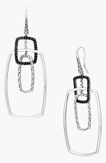 John Hardy Classic Chain Rectangular Drop Earrings rmIkK3q4DL