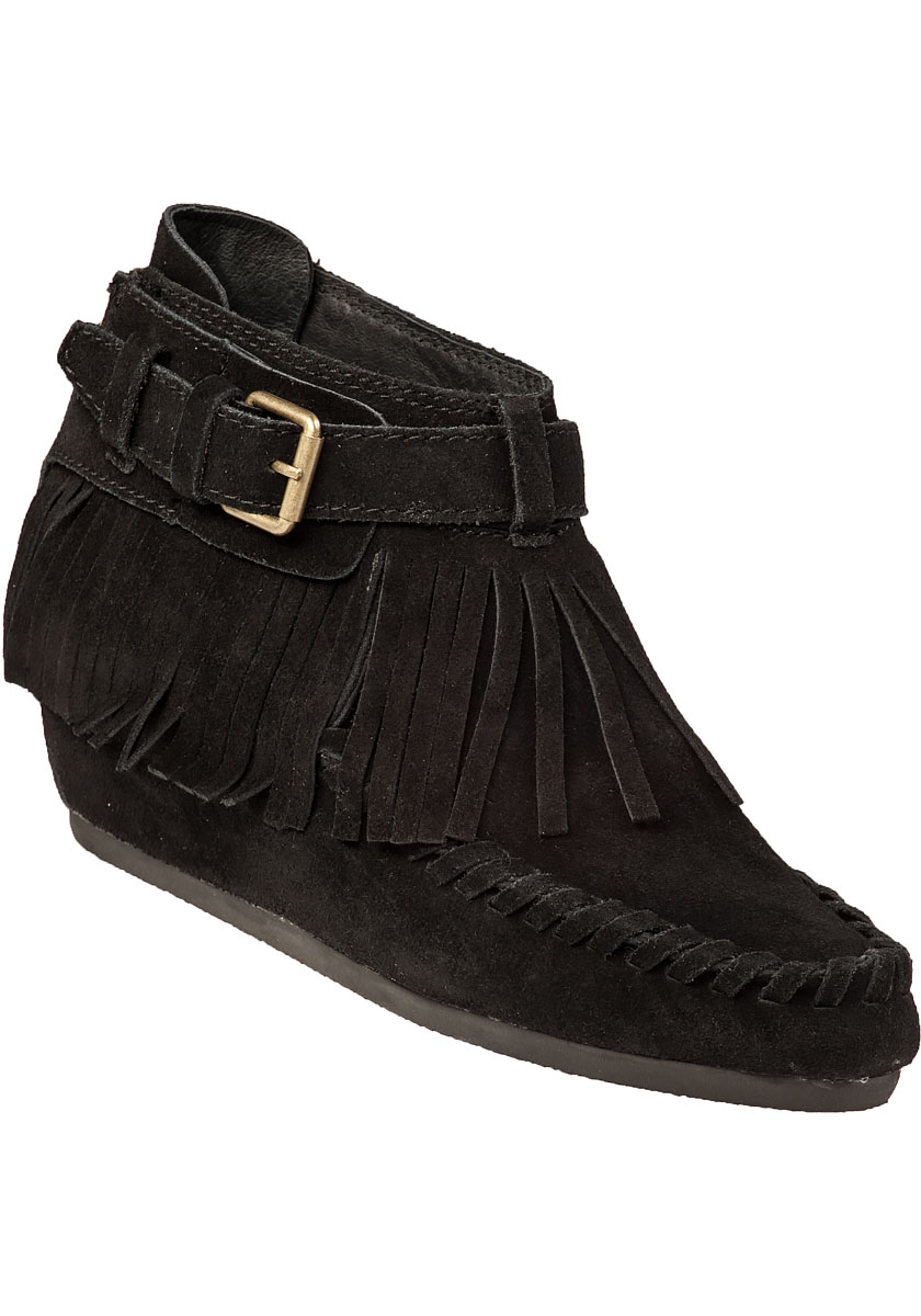 ash spot wedge boot black suede in black lyst