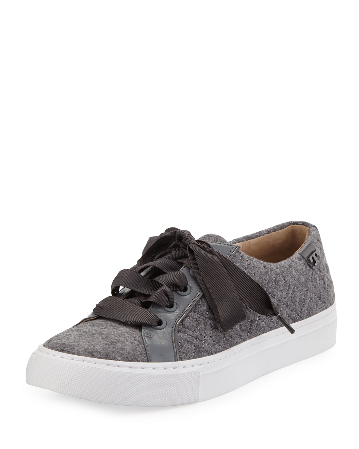 Lyst Tory Burch Marion Quilted Fleece Sneaker In Gray