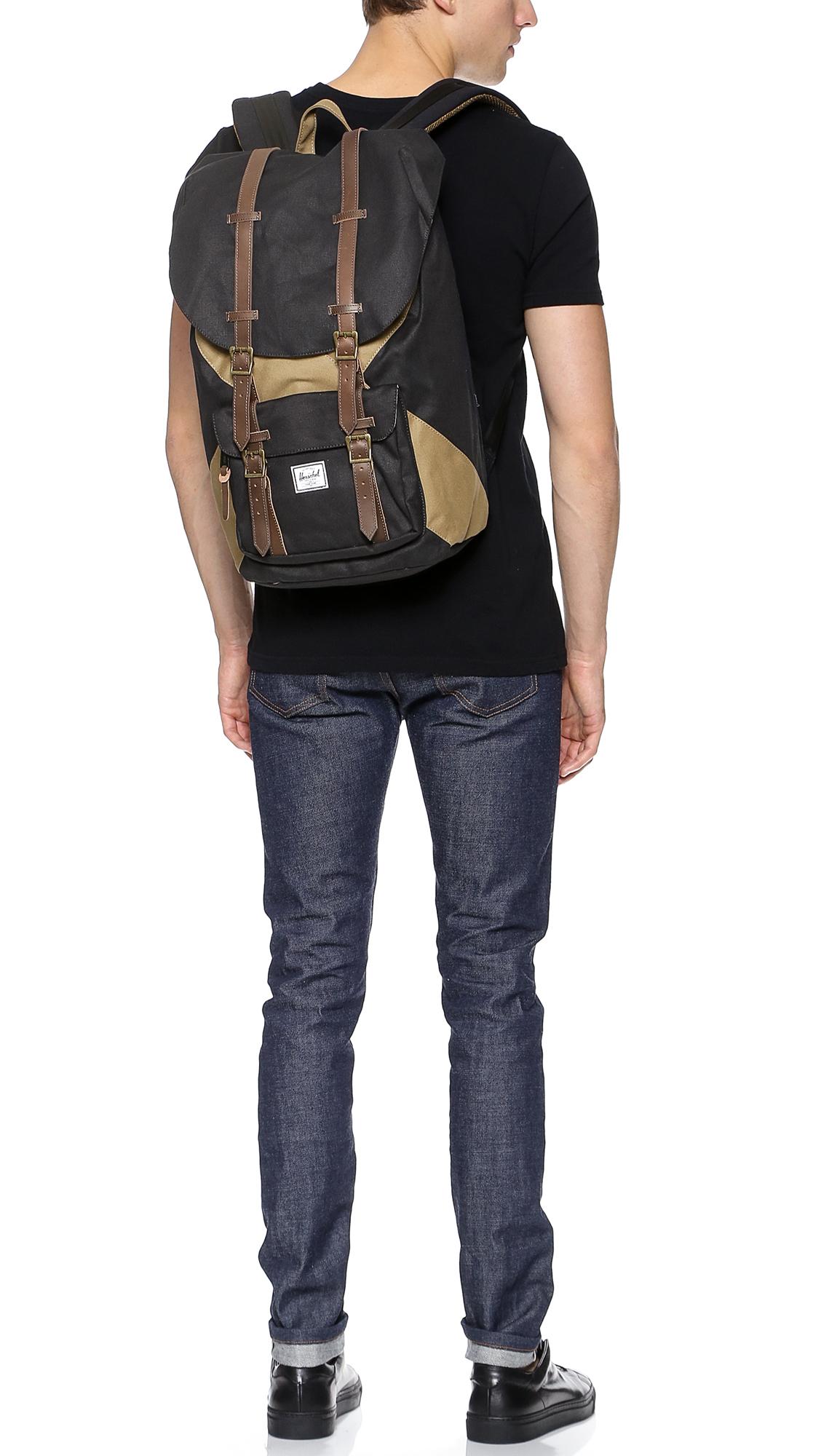 444c069889 Lyst - Herschel Supply Co. Little America Studio Backpack in Black for Men