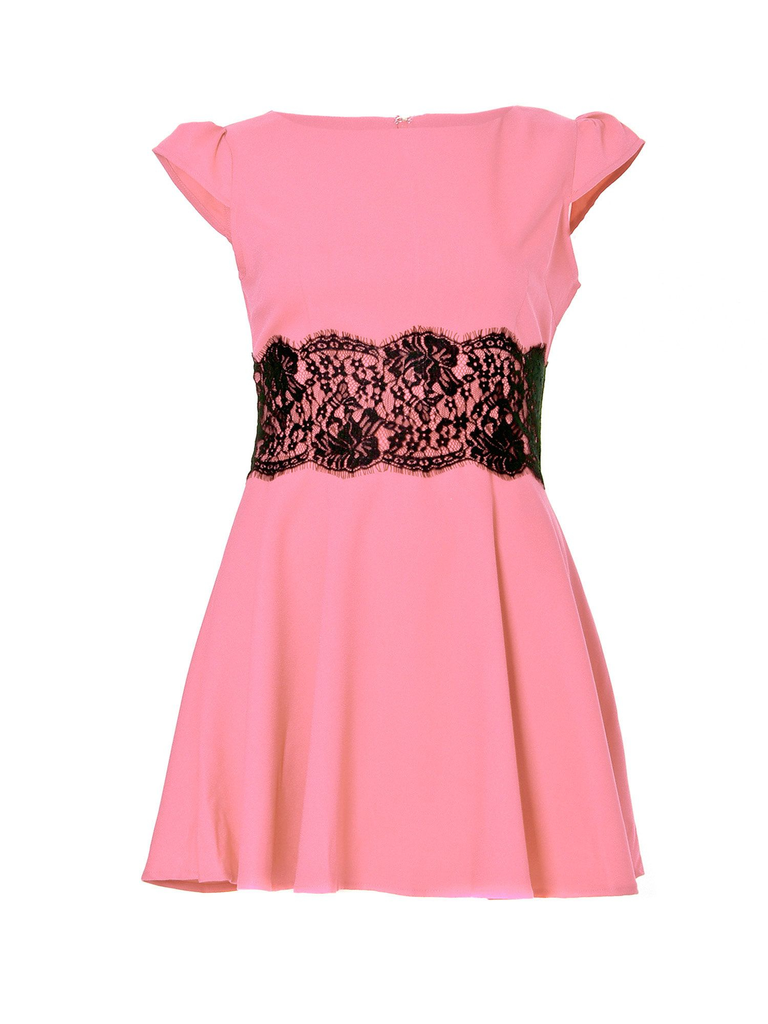 Very Cheap Ax Paris Pink Lace Waist Skater Dress - Pink AX PARIS Free Shipping Discounts F2ns1EWTK