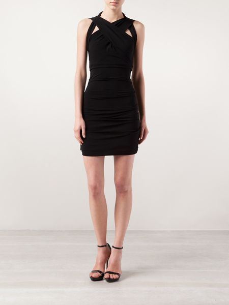 Plein Sud Crossover Dress In Black Lyst