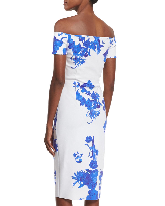 ff28309f2c709 Lyst - La Petite Robe Di Chiara Boni Off-the-shoulder Floral-print ...