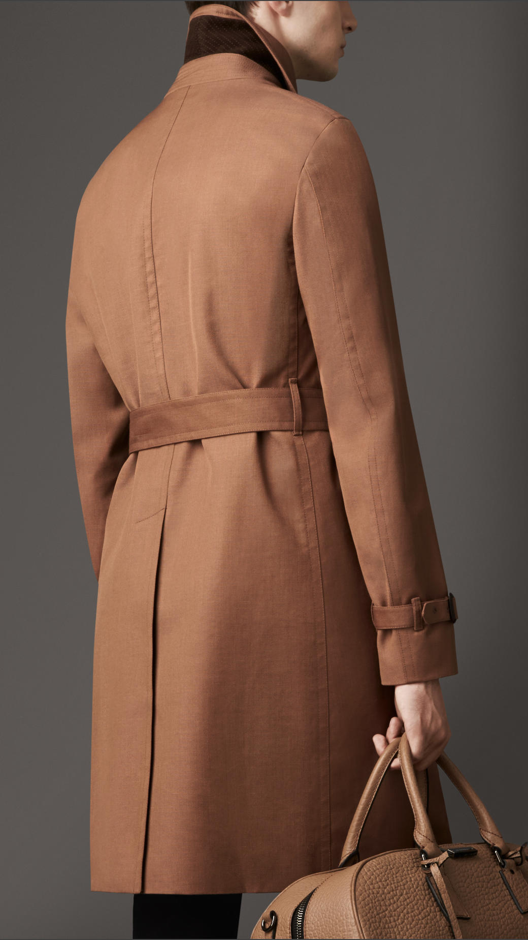 Lyst Burberry Long Cottonbonded Virgin Wool Mohair