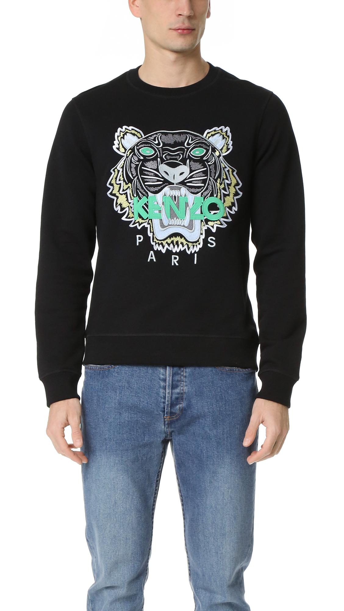 930e31f9 KENZO Cotton Sweatpants - Black in Black for Men - Lyst