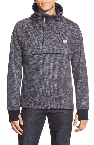 4b9d6ad6b80b Lyst - Bench  dissection  Quarter Zip Hoodie in Blue for Men