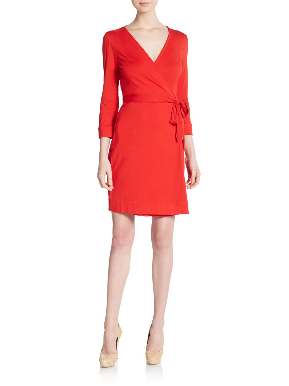 Diane von furstenberg new julian wrap dress in red poppy for Diane von furstenberg clothes