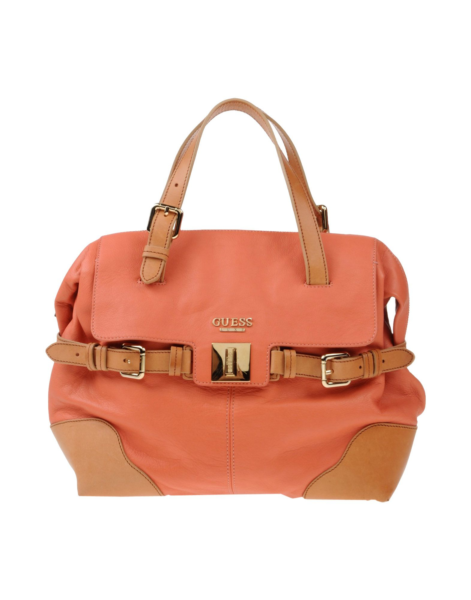 Guess Handbag In Pink Coral Lyst