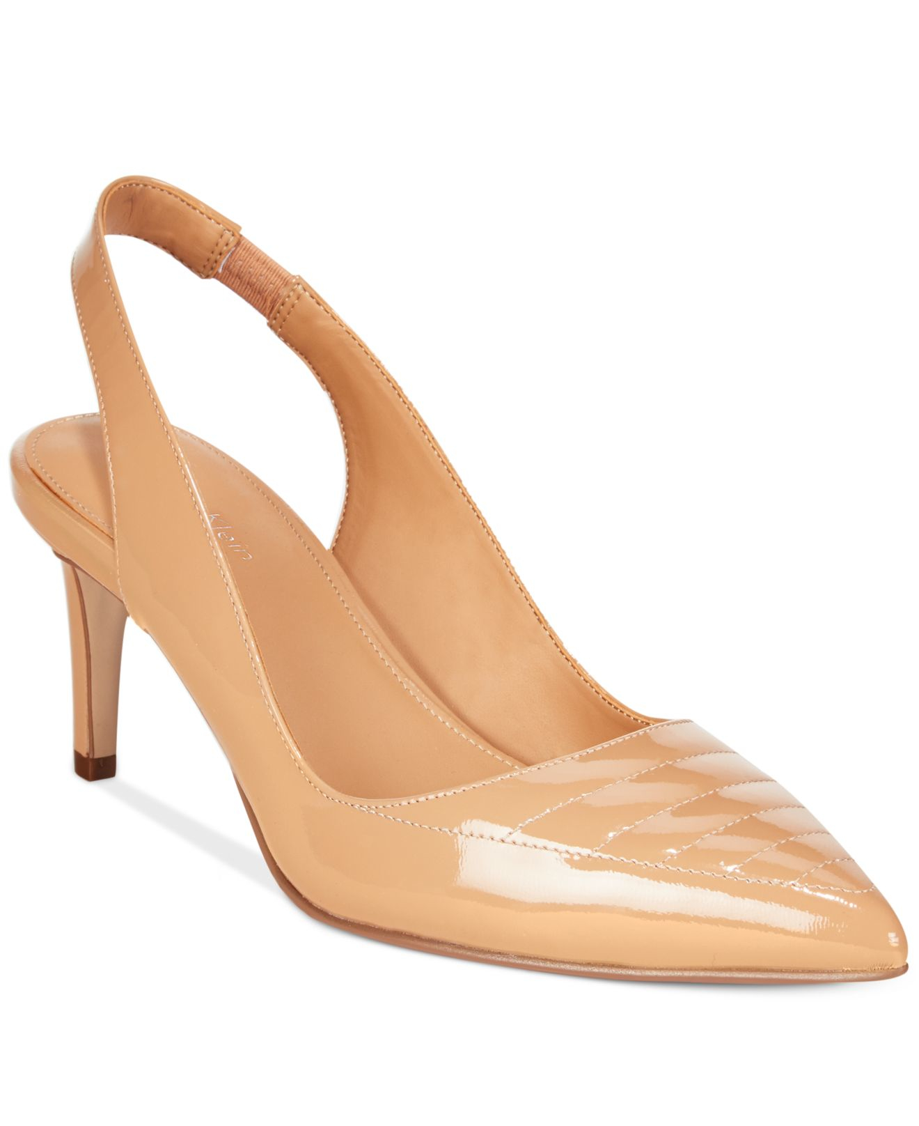 calvin klein calvina slingback pumps in pink lyst
