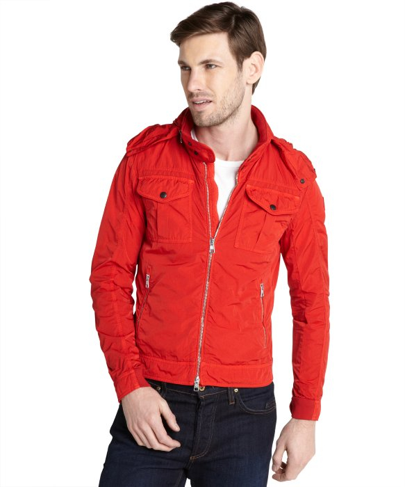 Moncler Red Windbreaker &39Adlophe&39 Jacket in Red for Men | Lyst