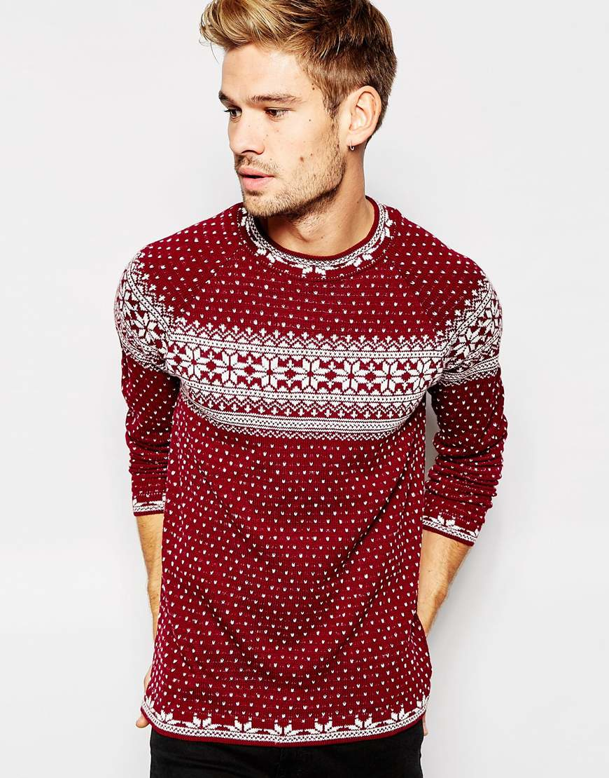 red christmas jumpers for men