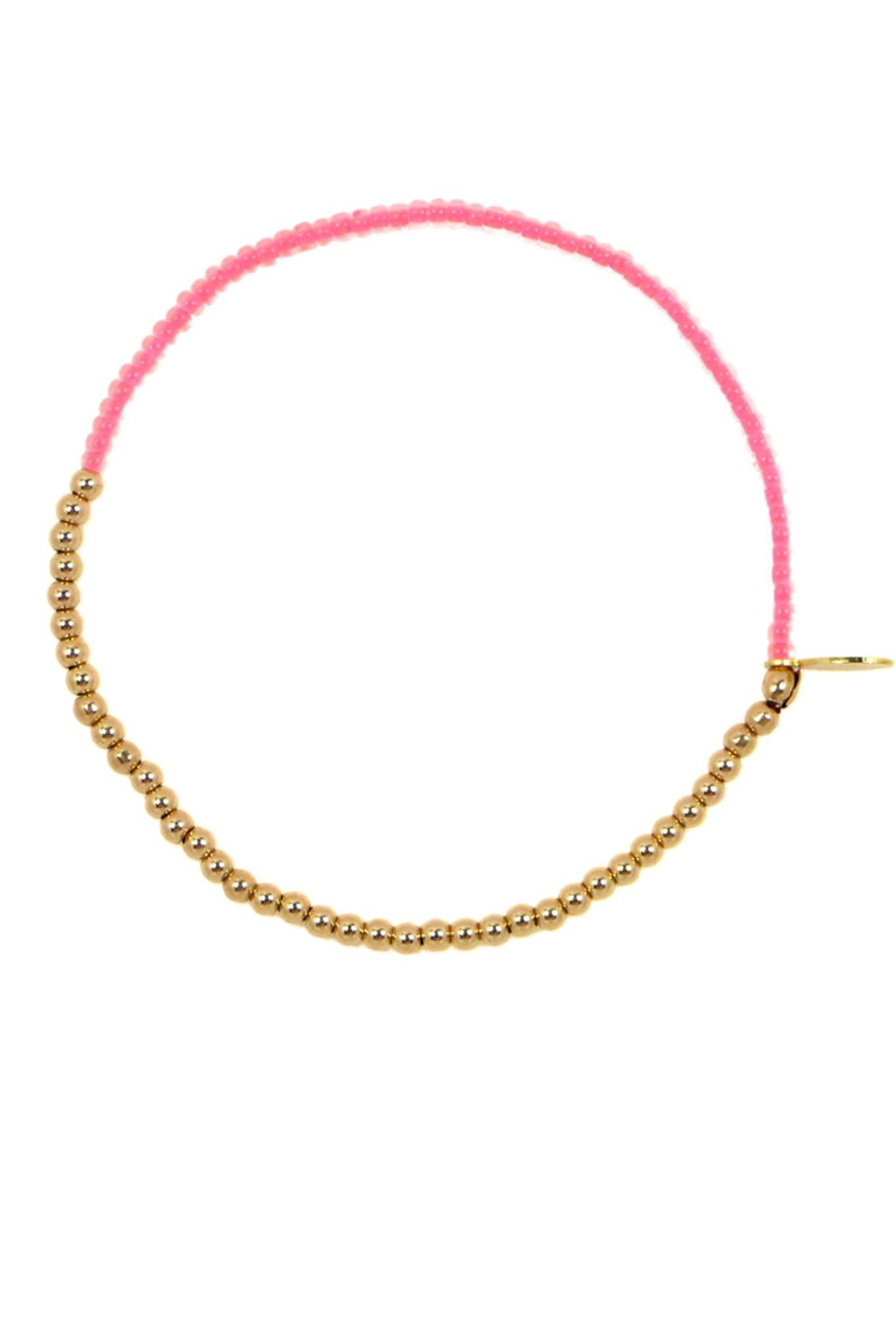 Nektar de stagni 14k Gold Fill Delicate Bracelet - Pink in ...