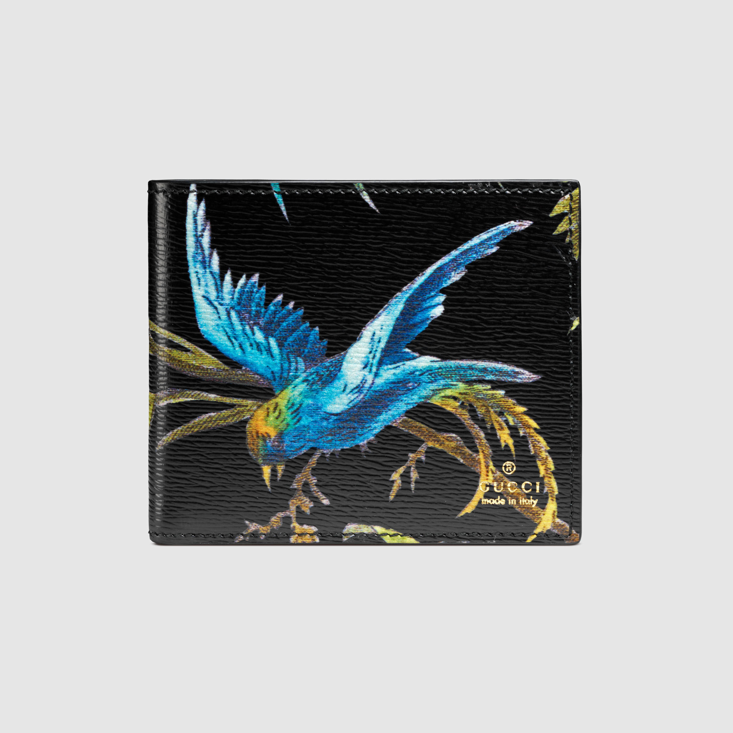 c9174cd501fa83 Gucci Tropical Print Leather Wallet for Men - Lyst