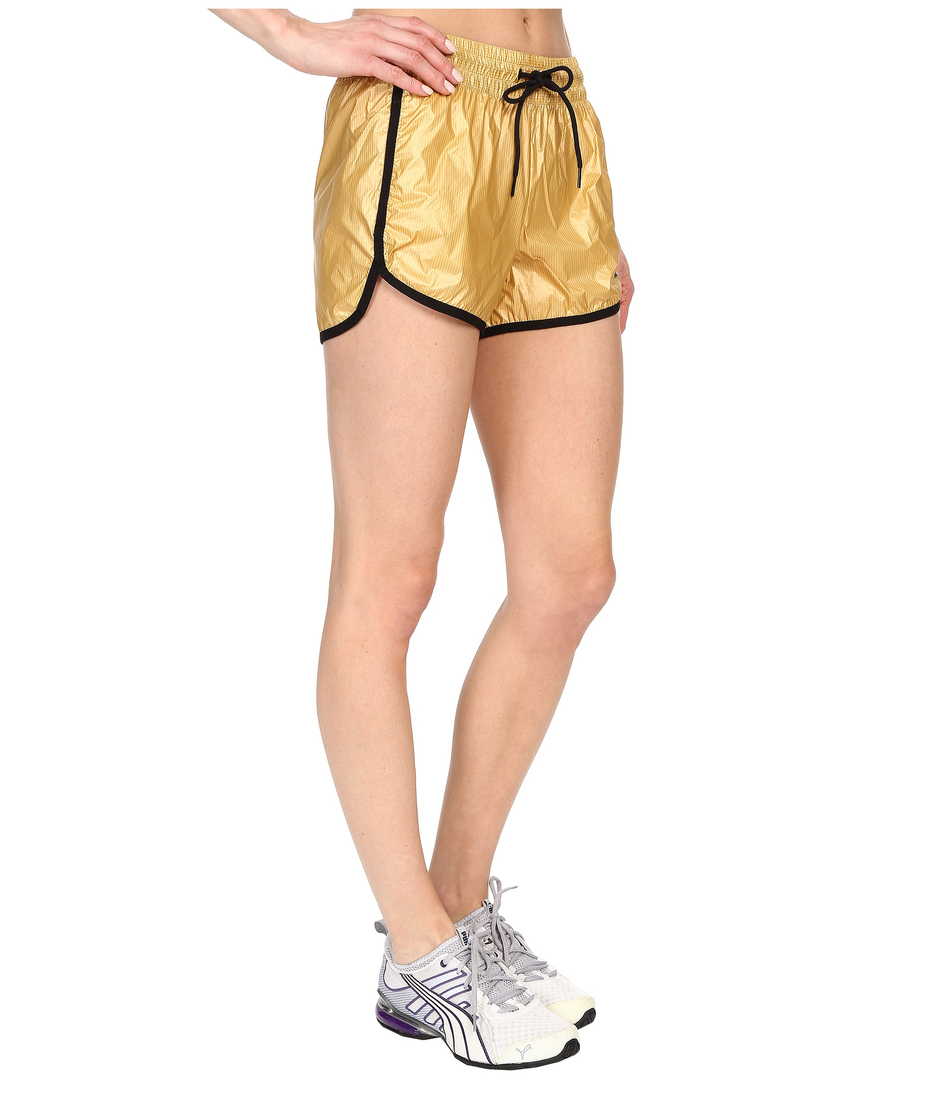 914ea9779cce Lyst - PUMA Gold Shorts in Metallic