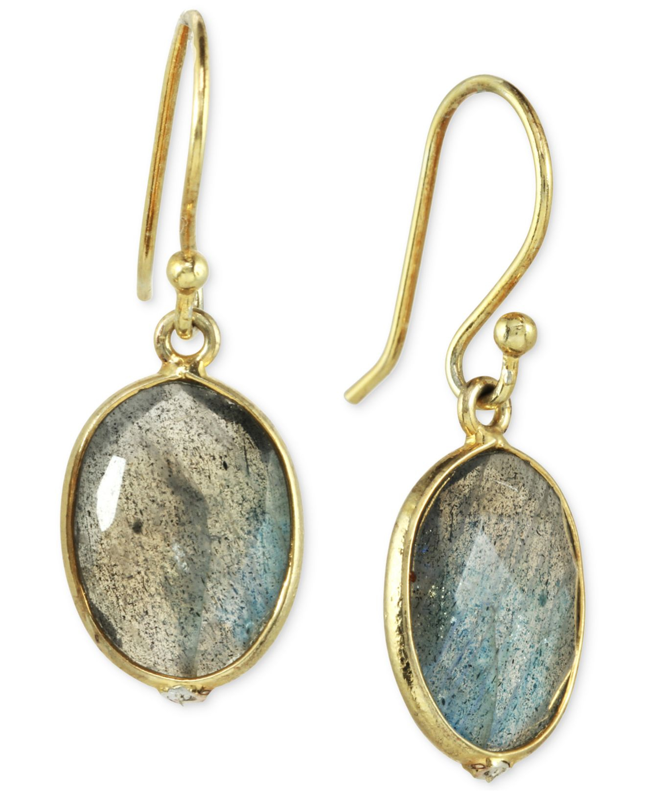 macys jewelry sale macy s labradorite drop earrings 10 ct t w in 14k gold 966
