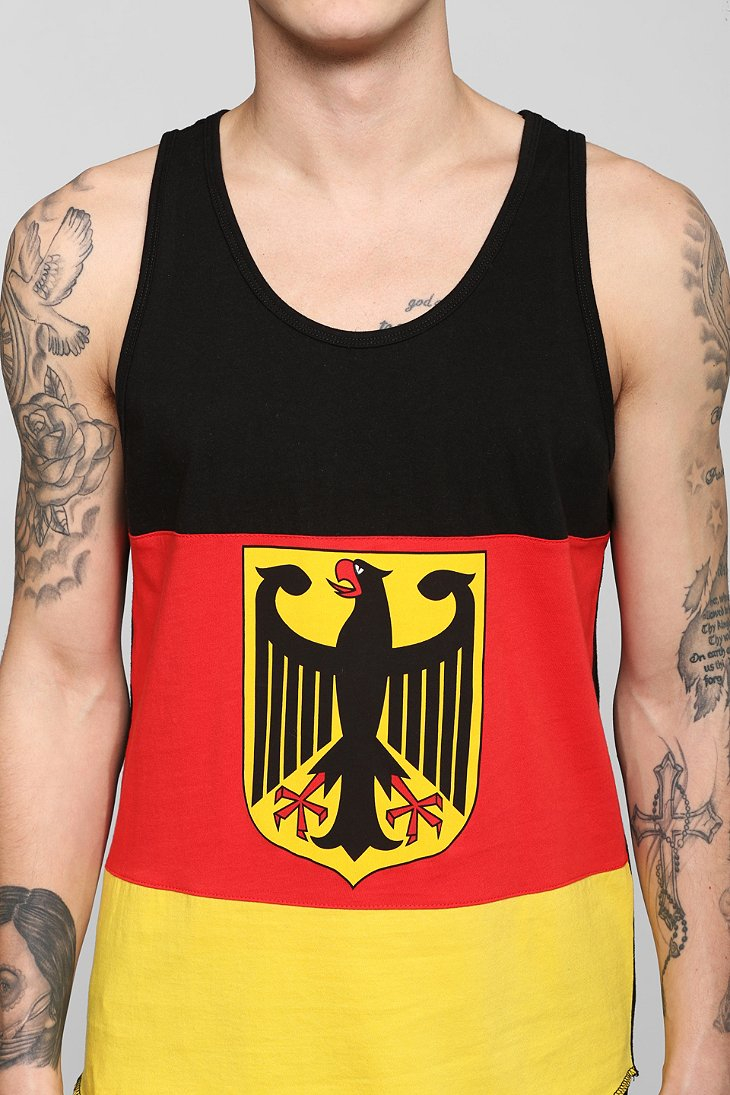 01548177a73a4b Lyst - Urban Outfitters Germany Flag Tank Top in Black for Men