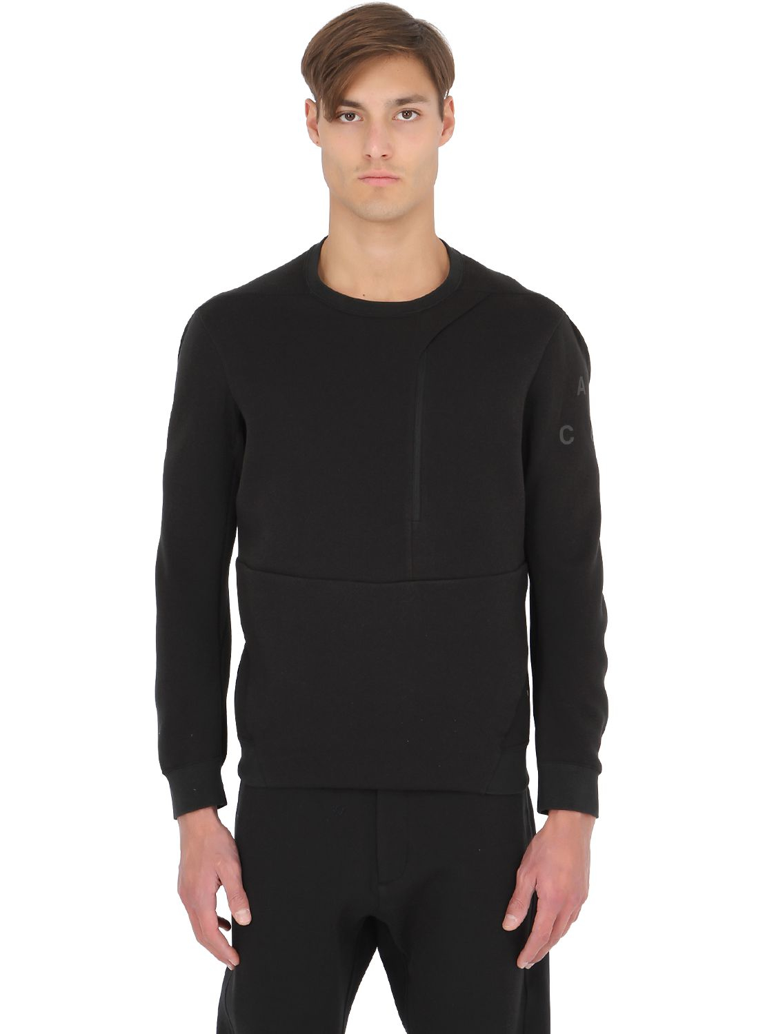 a7be8ed9840614 Lyst Black Sweatshirt Fleece For Nike Men Crewneck In Acg Tech rqwrHTZ0