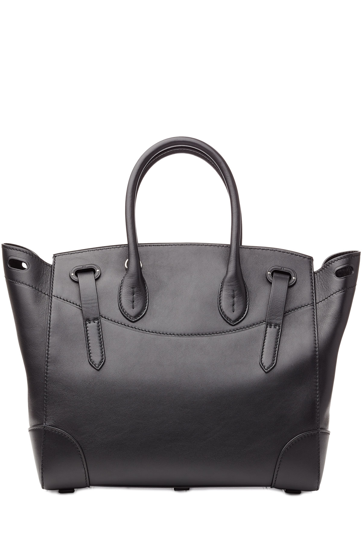 Ralph Lauren Tote Laukku : Ralph lauren collection leather soft ricky tote black in