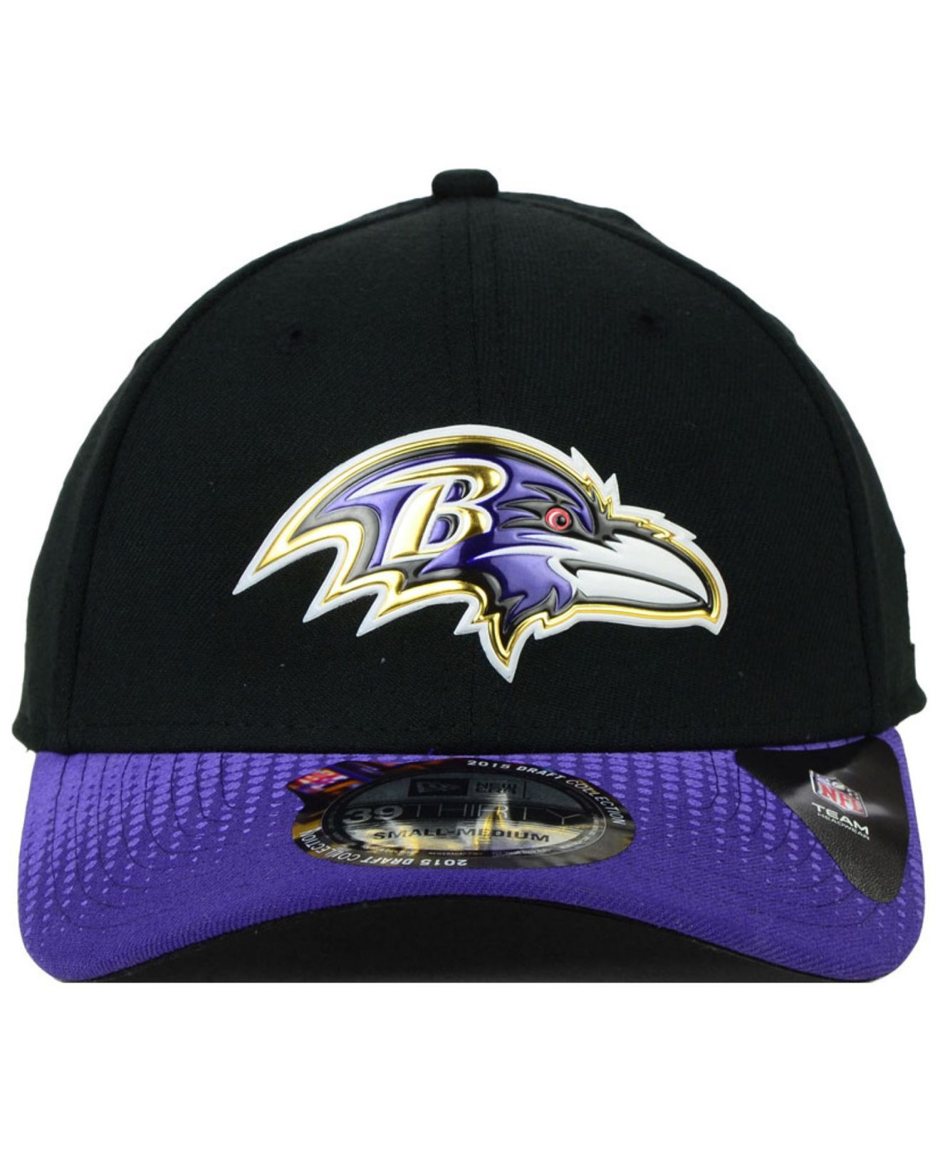1882caa97a9 ... promo code for lyst ktz baltimore ravens 2015 nfl draft 39thirty cap in  black for men