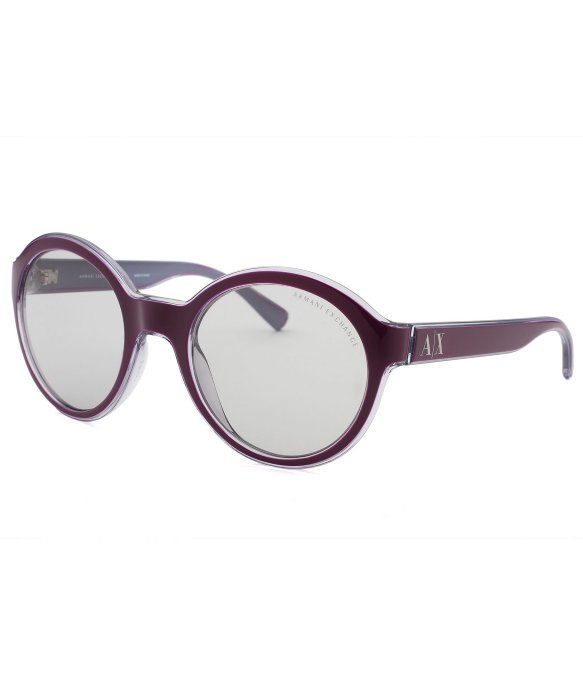 Armani Exchange Sunglasses Womens  armani exchange women s round purple sunglasses in purple lyst