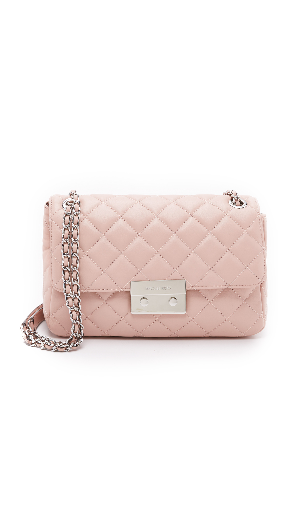 34f1a6ed8232 MICHAEL Michael Kors Sloan Large Chain Shoulder Bag - Ballet in Pink ...