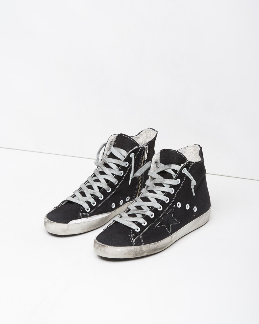 golden goose deluxe brand francy high top sneaker in black lyst. Black Bedroom Furniture Sets. Home Design Ideas