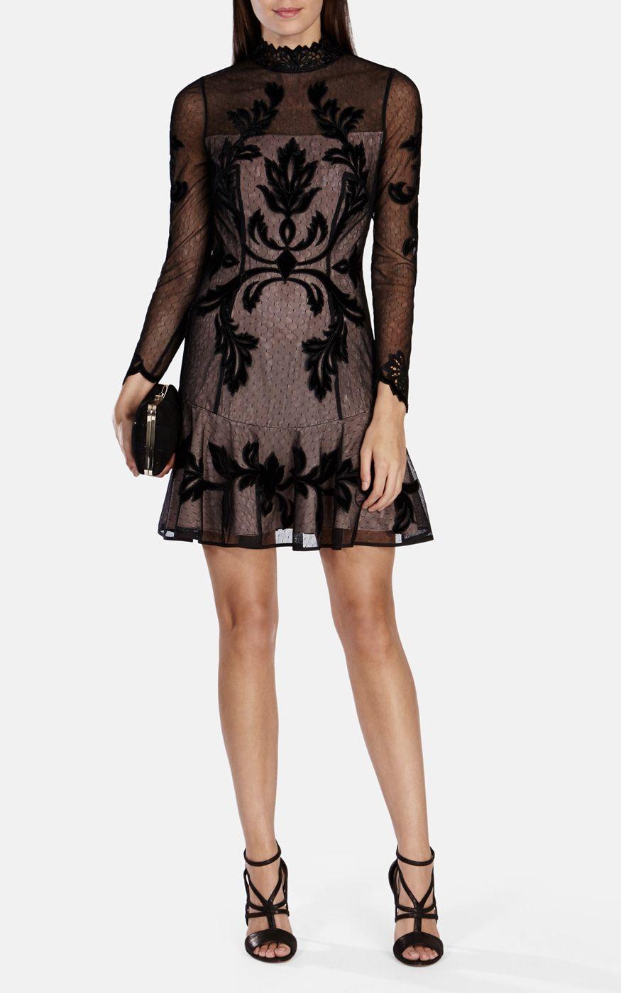 Karen Millen Gothic Long Sleeved Dress In Black Lyst