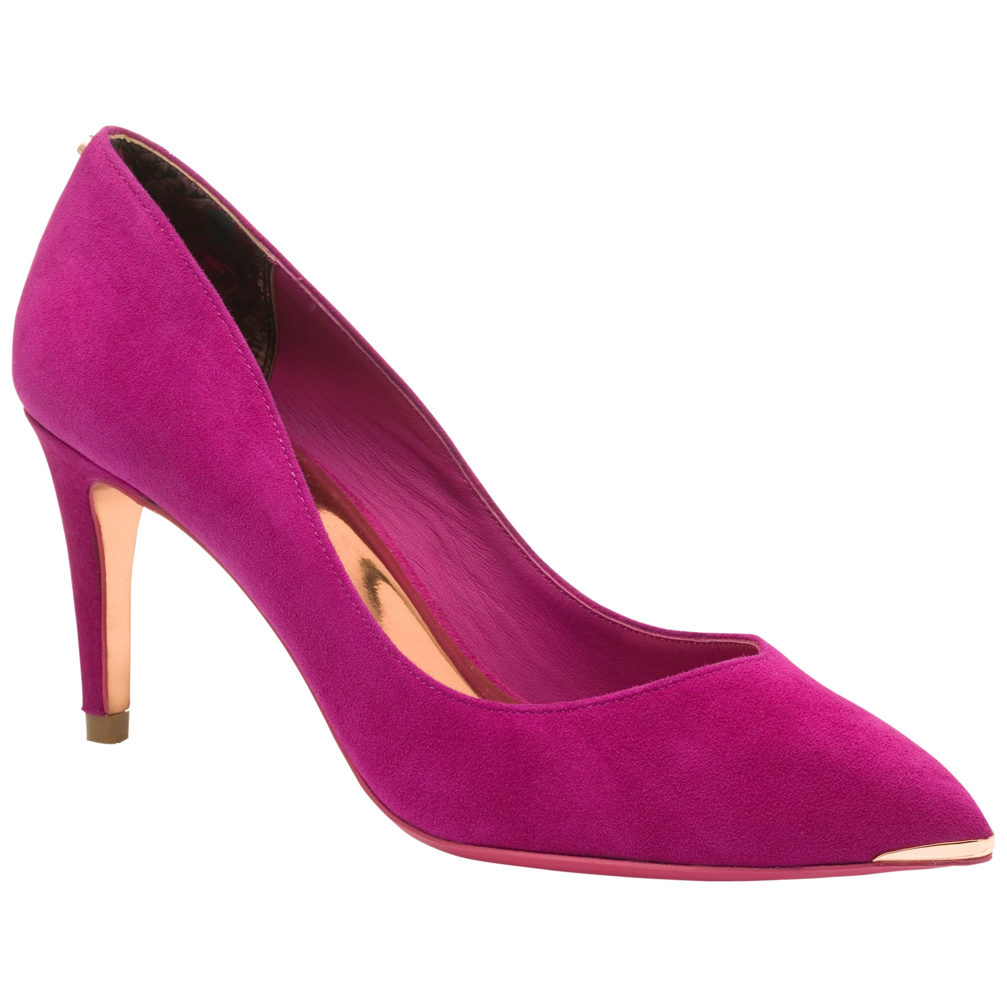 ted baker monirra pointed court shoes in pink lyst
