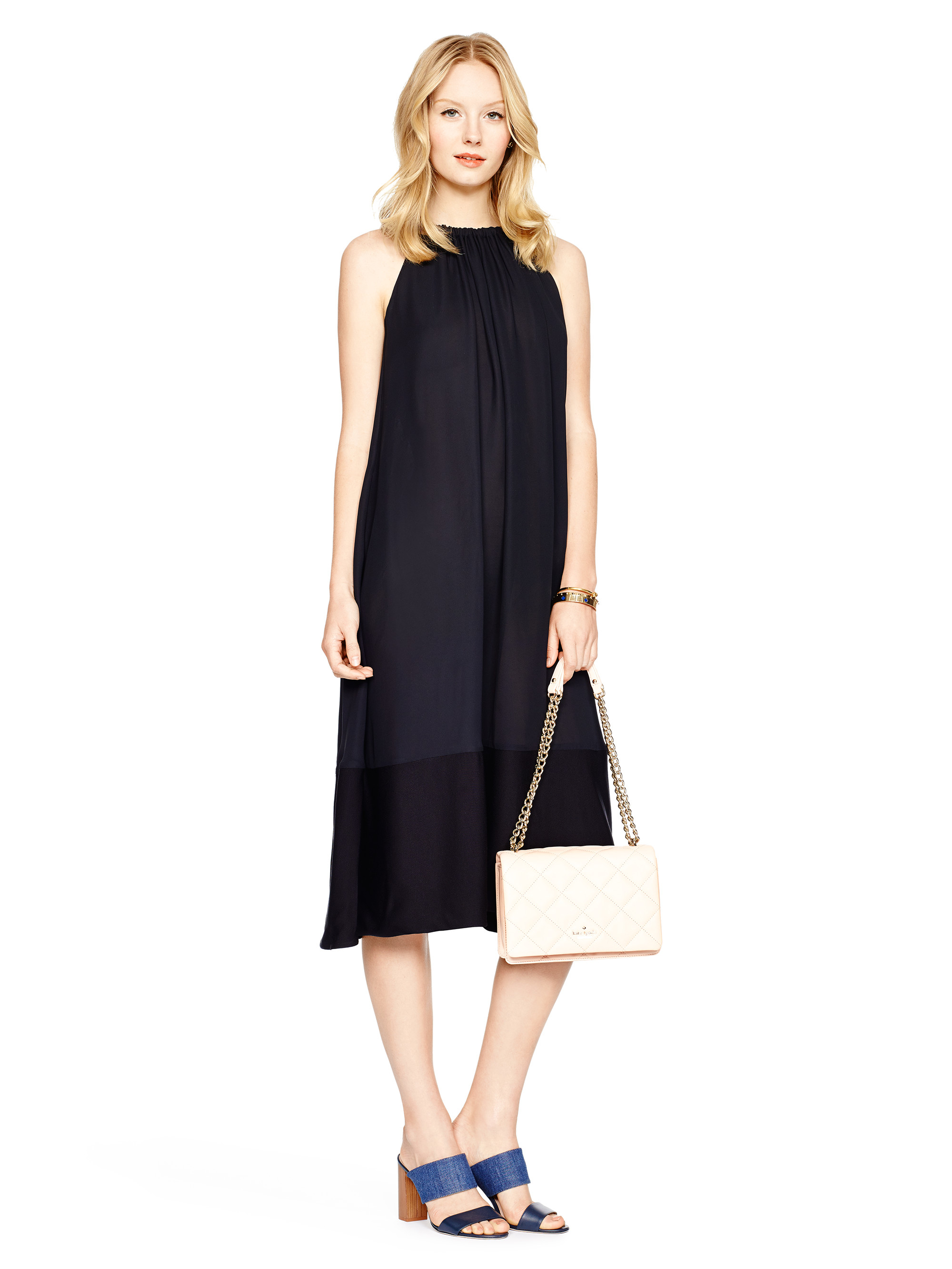 Lyst Kate Spade New York Trapeze Dress In Black